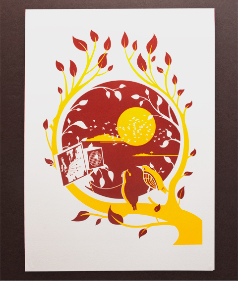 Steve Campion illustration screen print